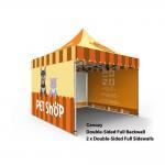 Custom Printed Trade Show Canopy Tent , 10x10 Display Tent Hexagon  Aluminum Tube Manufactures