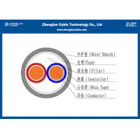 0.6/1KV Low Voltage 2 Cores Fire Resistant Cables  (Unarmoured) , PVC Insulated Cable according to IEC 60502-1 Manufactures