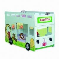 Children's Bunk Bed in Double-layer Bus Design, with Matte Surface Finish, Measuring 90 x 190cm Manufactures