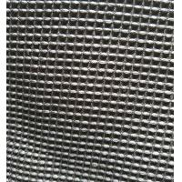 Black Microfiber Waffle Fabric  300gsm 150cm Width For Beddings Clothes Manufactures