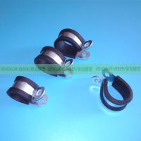 rubber cushion clamp rubber hose clamp rubber pipe clamp ,wire clamps,hose clips,heavy duty clamp,P clamp,R type clamp, Manufactures