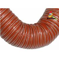 Iron Oxide Red Silicone Coated Fiberglass Fabric High Temperature Flexible Duct