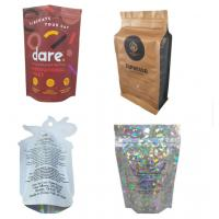 Reusable Resealable Food Pouches , Oxygen Proof Stand Up Plastic Bags Manufactures