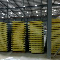 China corrugated ivory white color steel sheet glass wool sandwich panel 5950 x 960 x 50mm on sale