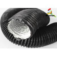 High Temperature 5 Inch Round Flexible Duct Aluminum Foil PVC With Single Layer Manufactures