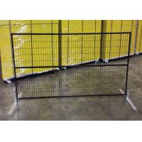 "Quality 6ft x 10ft canada standard temporary fence 2"" x 4""X10.5GA aperture pipe 1""x1'x1.7GA thick brace 3/4""x19GA POWDER coated for sale"