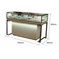 Pre - Assembled Structure Jewelry Store Display Cases With Stainless Steel Frame Manufactures