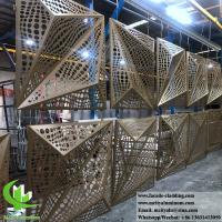 China 3D folded aluminum panels for building facade customized metal sheet on sale
