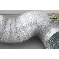 Flame Resistant Aluminum Foil Ducting , Light Weight Flexible AC Duct Manufactures