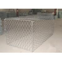 1 x 1 x 1m Heavy Zinc / Gray  Coated  Woven Gabion Box  with 4 . 0 Wire Daimeter Manufactures