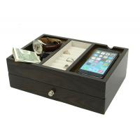 Wood Desk Supply Organizer, Multi Device Charging Station And Cord Organizer Manufactures