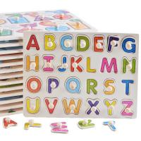 DIY Alphabet Letter Paper Jigsaw Puzzle , Custom Made Puzzles For Kids Manufactures