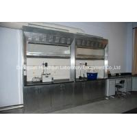 PVC Track Stainless Steel Fume Hood Phenolic Resin Worktops With Remote Control Valve Manufactures