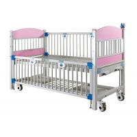 Movable Pediatric Hospital Bed , Metal / ABS Hospital Cot Bed With Manual 2 Crank Manufactures
