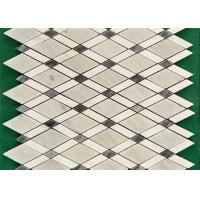 Venice White Mosaic Kitchen Floor Tiles , Mosaic Style Floor Tiles 10 Mm Thick Manufactures