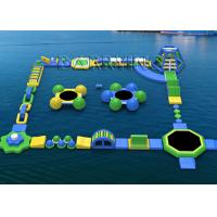 Waterproof Tarpaulin Inflatable Floating Water Park Equipment For Rental / Festival Activity Manufactures