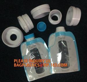 China ziplock reusable drink pouch with spout bath tea bag zipper valve flat bottom pouches milk tea powder packaging bag on sale
