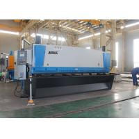 Automated Guillotine Sheet Metal Cutter , Guillotine Steel Cutter With Front Support Arms Manufactures