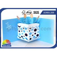 3D Pop Up Birthday Cake Birthday Cards Greeting Cards Printing , Printable Greeting Cards Manufactures