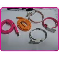 Flat Cable Colorful USB Data Cable, Multifunctions Power, Data Connector for Iphone / Apple / Ipad Manufactures
