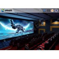 Exciting 5 D Movie Theater Electronic Chair With Safety Belt , Armrest Manufactures