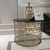 luxurious hotel furniture bedroom stainless steel metal base gold mirror finish Manufactures