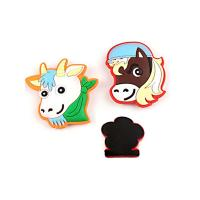 Promotional Gift Soft Fridge Magnets Cartoon Animal Shape Easy Carrying Manufactures