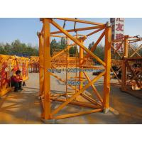 China QTZ100 Tower Crane Spare Parts Mast Section 2.5m Height with Retaining Ring on sale
