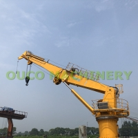 Customized 1.5t 36.6m Marine Telescopic Boom Crane Manufactures