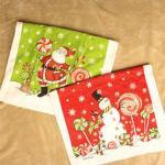 100% Cotton Printed Promotional Souvenir Holiday Christmas Xmas Tea Towel Dish Towel Manufactures