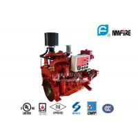 Red Professional Fire Pump Diesel Engine 144KW With Water Cold Cooling Manufactures