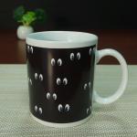 Square mug smile face heat sensitive color changing mugs 11 oz Manufactures