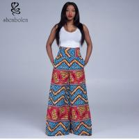High Waist Womens African Print Pants Designs Wax Printed Multi Colored Manufactures