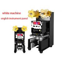 China Full Automatic Cup Sealing Machine Pearl Milk Tea Shop High Cup Sealing 110V on sale