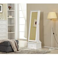 Sturdy Large Wooden Dressing Mirror Stylish With Storage Drawer Manufactures