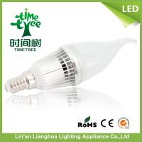 Energy Efficient Household 220V 5 W LED Candle Light Bulbs E14 With ISO9001 Manufactures