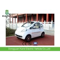 4 Wheels Drive White Body Mini Electric City Car With 2 Seats Good Climbing Ability Manufactures