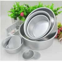 Quality Anodized Aluminum Round Cheese Cake Pan With Removable Bottom Eco Friendly for sale