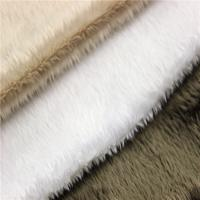 Buy cheap 100% polyester super soft DTY/FDY velboa knitted minky toy plush fabric from wholesalers