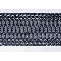 Navy Floral Embroidered Nylon Mesh Lace Trim With Guipure Ribbon Azo Free Manufactures