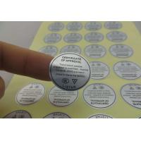 Buy cheap Customized PVC PP label adhesive label color label with Self-adhesive from wholesalers