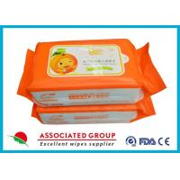 China Biodegradable Wet Baby Wipes For Sensitive Skin / Unscented Baby Wipes on sale