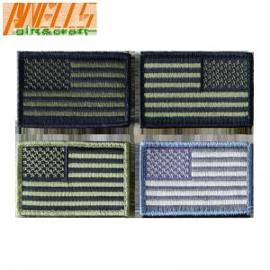 China U.S. Army Moral Patch US Flag Forward Hunting Patch Hook and Loop Embroidered Patches on sale