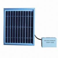 Quality 2.5W Solar Mobile Phone Charger with 2pcs 5V USB Output, No Battery for sale