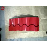 Building Materials Colour Coated Roofing Sheets With Aluminum Corrugated Red Colour Manufactures