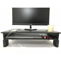 PVC Laminated Computer Monitor Stand Adjustable Heights With Storage Shelf Manufactures