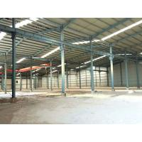 Multi Spans Steel Structure Workshop Buildings High Strength With Overhead Crane Manufactures