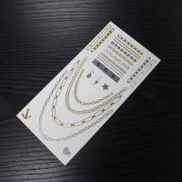 China metallic body temporary tattoo sticker on sale