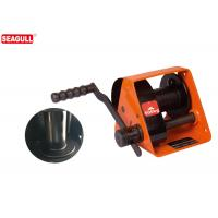 HWG Type 500kg Hand Lifting Winch With Two Way Ratchet , Worm Gear Hand Winch Manufactures