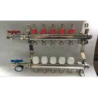 Material Stainless Steel 304 Floor Heating Manifold With Two Ball Valve Manufactures